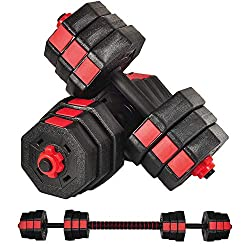 8 Sides Shapes Watmaid Weight Dumbbells With Connected Bar