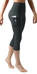 Darker Green ODODOS High Waist Out Pocket Yoga Shorts