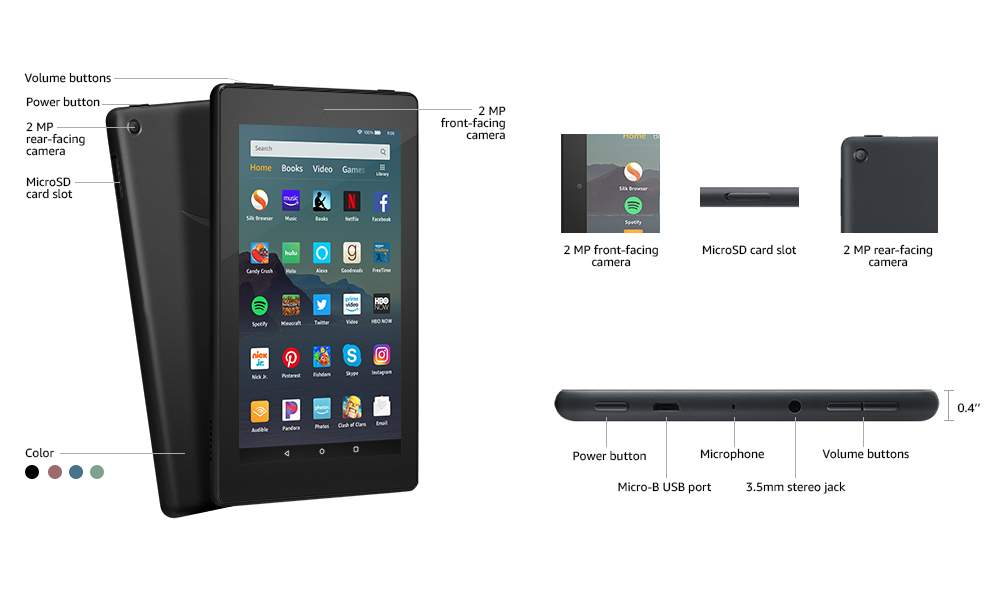 Fire 7 Tablet Technical Details