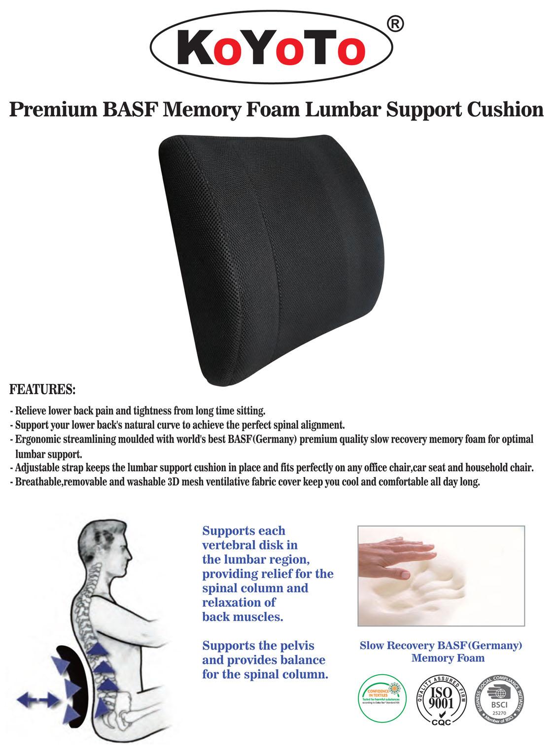 Foam Memory Lower Back Support