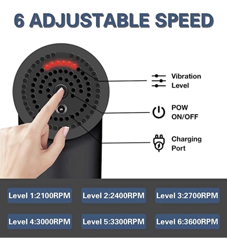 Massage Gun With 6 Adjustable Speed At Exeshopper