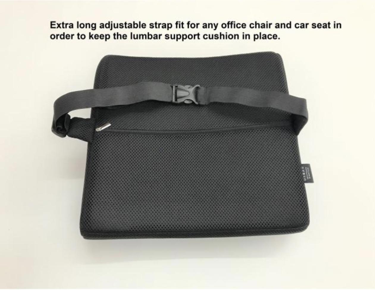 Memory Foam Headrest Neck Support Instruction