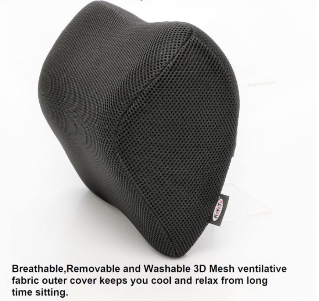 Koyoto Memory Foam Headrest Neck Support For Car Seat