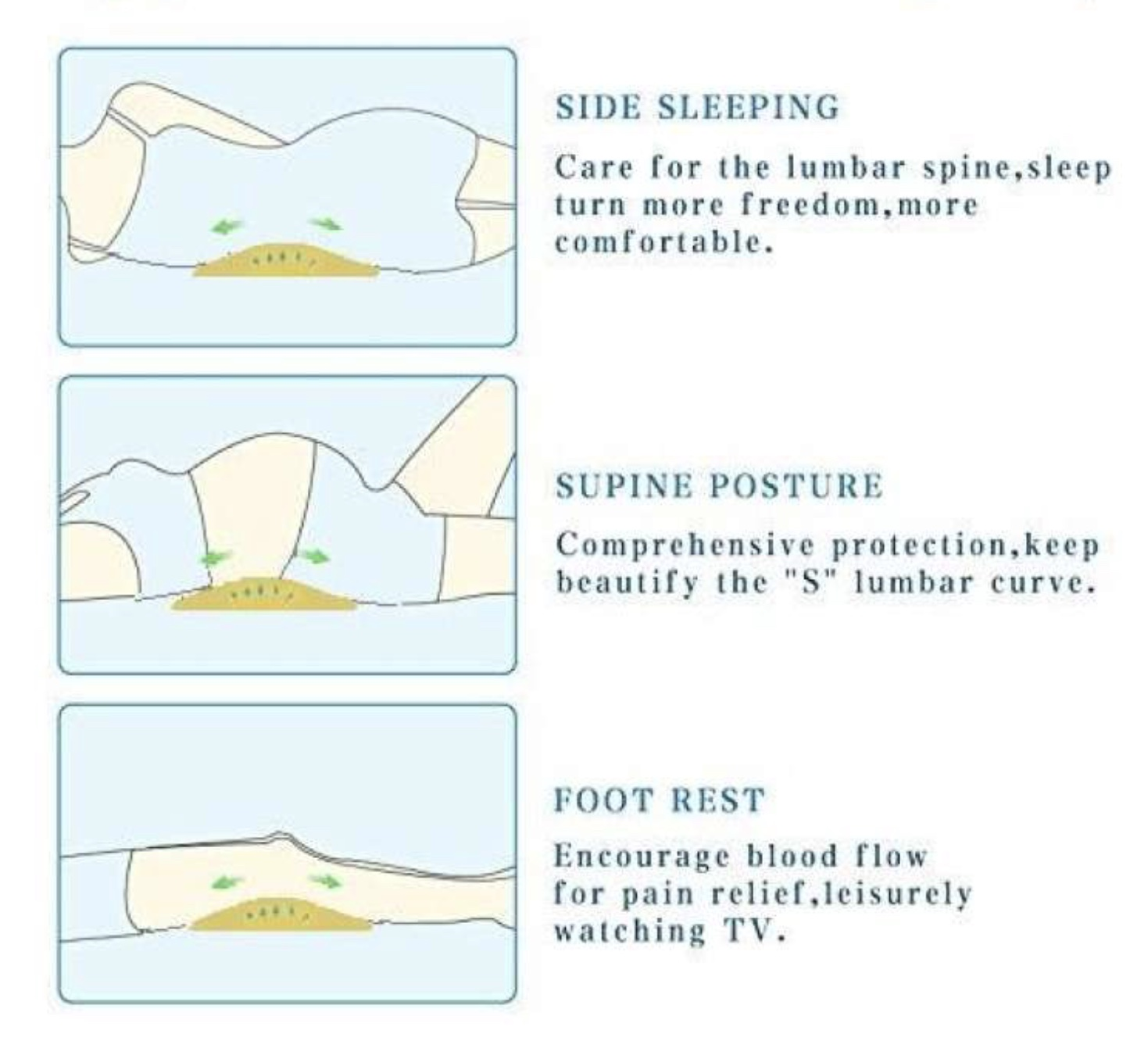 Memory Foam Back Instruction For Pregnant Lady