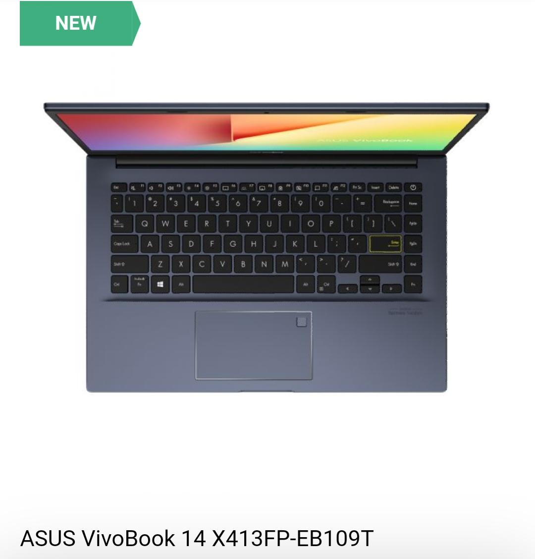 Asus VivoBook 14x413FP Topview
