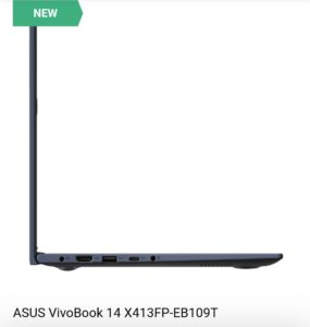 Asus VivoBook 14x413FP Sideview