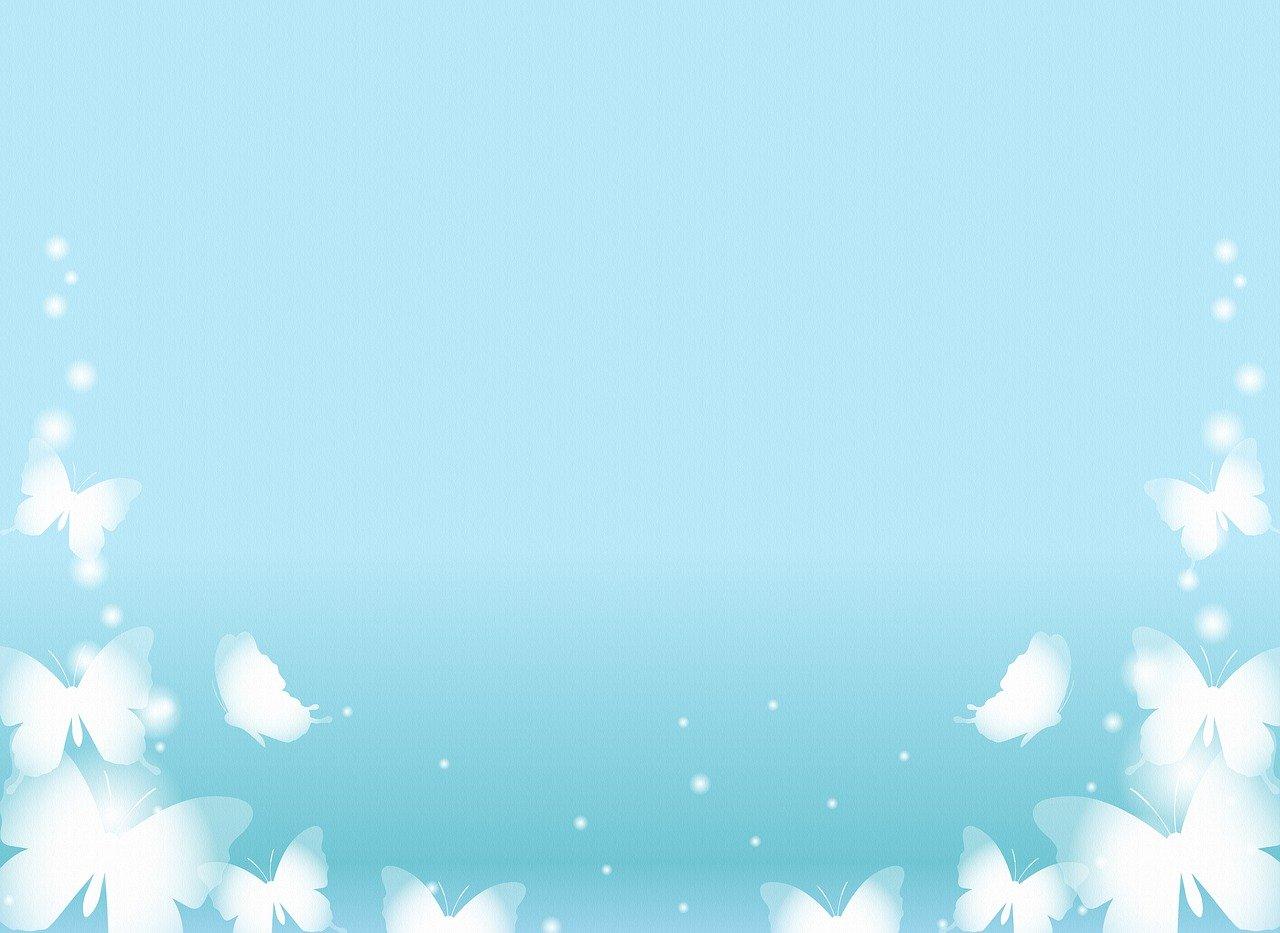 blue butterfly background, white butterflies, digital paper