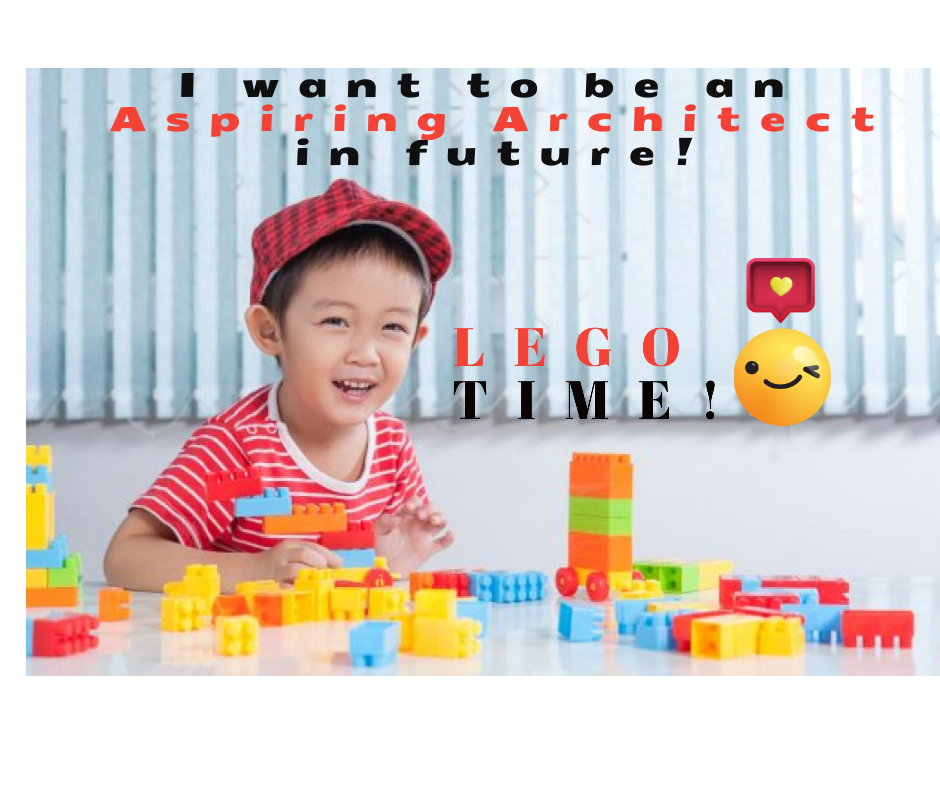 Happy Kid Playing Lego