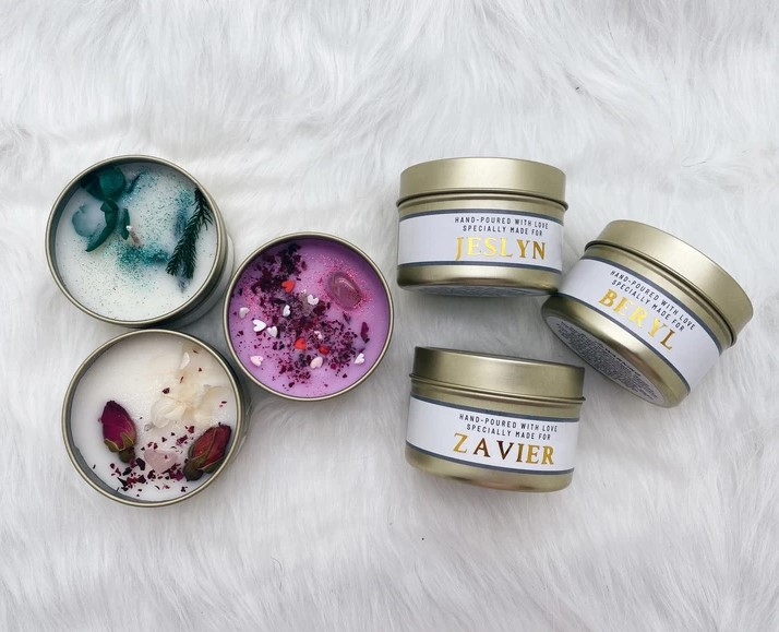 Customised Candles At Moving Moments