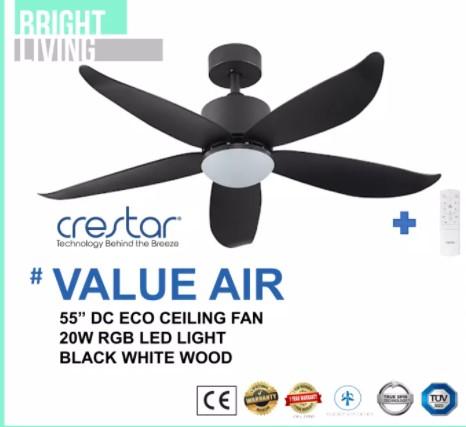 black ceiling fan light