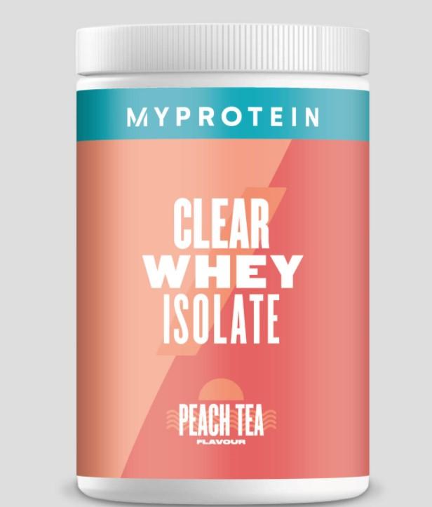 Myprotein Isolate Peach Tea.
