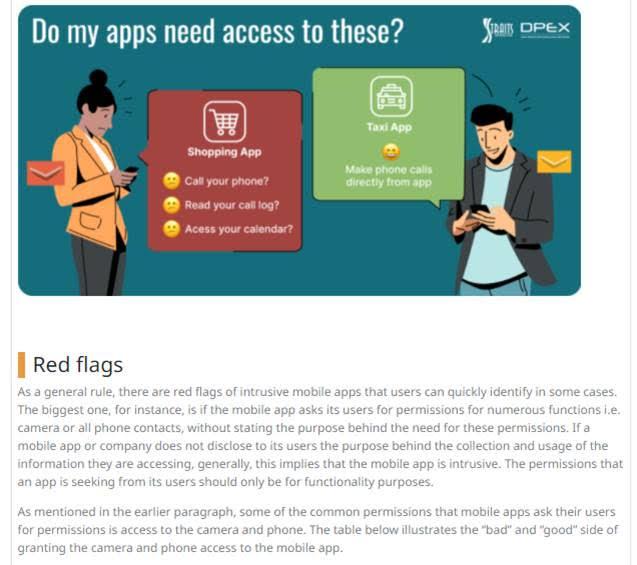 managing intrusive mobile apps